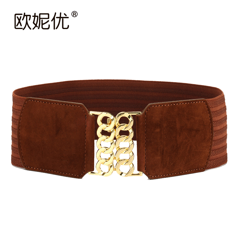 New Winter Lady Fashion Suede Belt Women Wide High Elastic Waistband Super Wide Simple Decoration Wide Elastic Belt B-4012(China (Mainland))