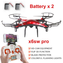 x6sw WIFI Real Time Camera RC Helicopter RC Drone FPV Quadcopter Gopro Professional Drone with Camera