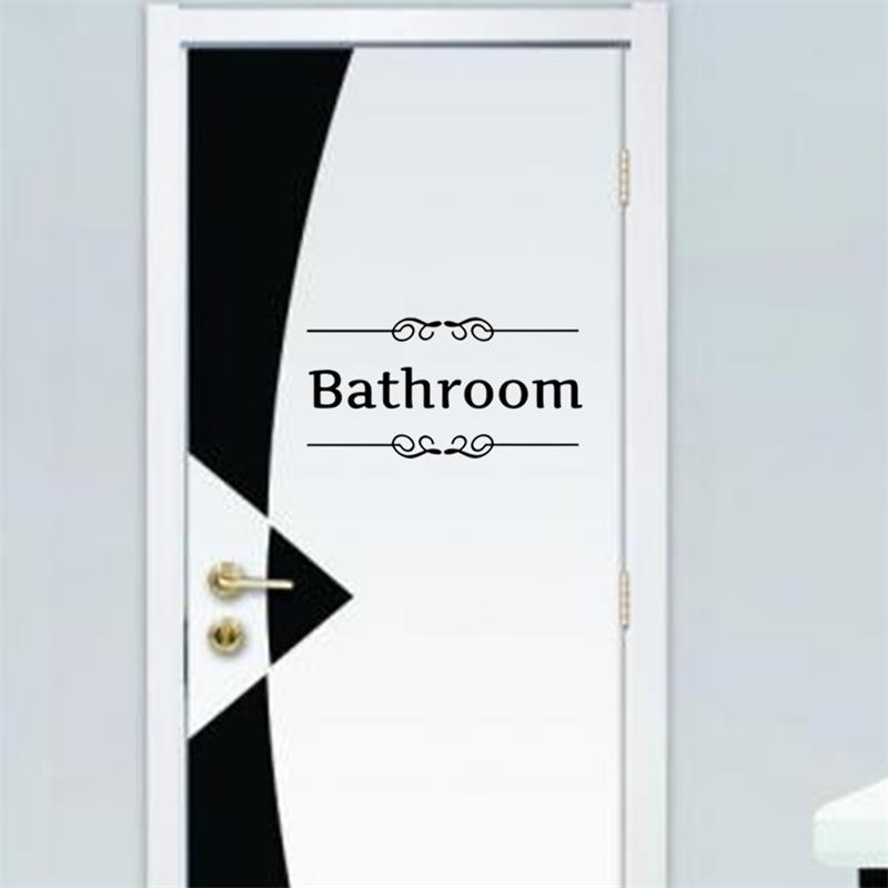 Buy bathroom shower room toilet door for Decoration porte sticker