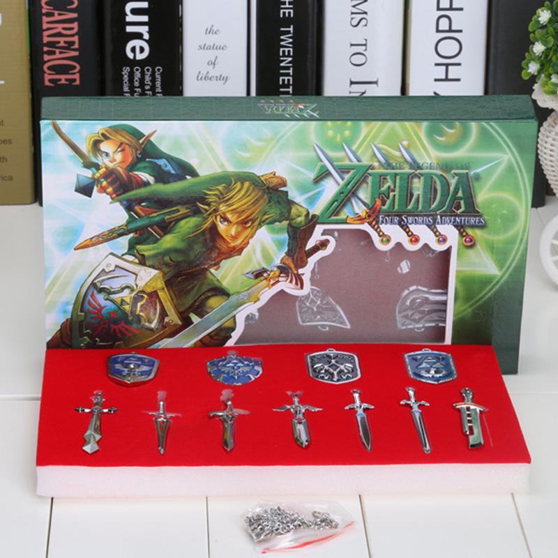 The Legend of Zelda Weapons Link Swords 11pcs/set Keychains Necklace Gift(China (Mainland))