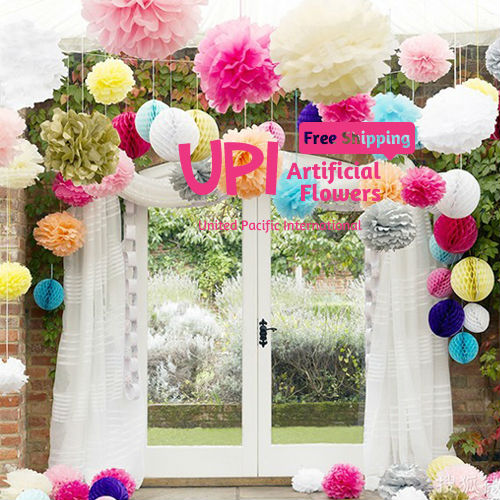 Mix Colors 10 Pcs 4 Inch Wedding Flower Ball Paper Pom Poms For Wedding Decoration Amp Home