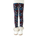 2016 New Winter Girls Leggings Pants With Print Knots Sizes 2T to 11T Children Fashion Pants
