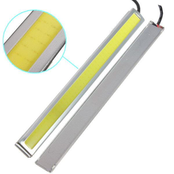High Quality 2X 17cm LED COB 84 Chip Pure White Car Auto Driving DRL Daytime Running