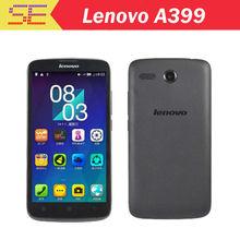 Original Lenovo A399 Mobile Phone 5 inch MTK6582 Quad Core 1.3GHz Android 4.4 Wifi 3G WCDMA Dual SIM Smart Phone