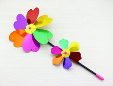 Supply Fashion Unique Design Rainbow Colorful Windmill Toy for Children Camping Outdoor Garden Decoration Promotional Product 8F