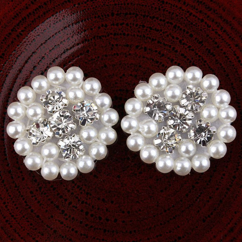 pearls handmade flatback button diy sewing rhinestone buttons wedding