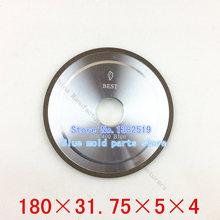 100% concentración de acero de tungsteno ranurado ruedas de diamante de carburo de muela altas concentraciones especificaciones 180 * 31.75 * 5 * 4