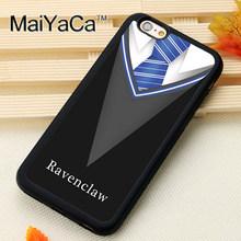 MaiYaCa lindo Harry Potter Gryffindor bufanda para iPhone 4 SE 5C 5S 6S Plus X XR XS MAX negro funda blanda de silicona para teléfono(China)