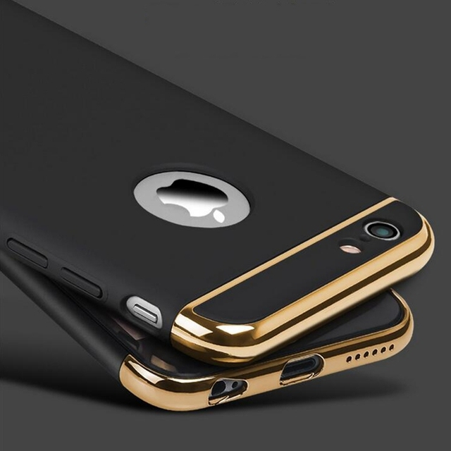 New for iphone 6s 6 Plus Case Armor Slim Thin Gold Black Cases for iphone 7 Plus 5 5S SE Luxury Cover Shockproof Accessories