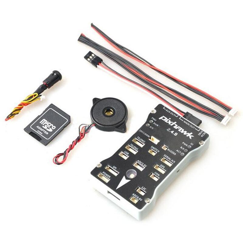 Фотография Pixhawk PX4 Autopilot PIX 2.4.8 Flight Controller 32 Bit ARM PX4FMU PX4IO Combo With Safety Switch and Buzzer For RC Toys