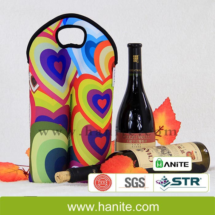 Insulated Neoprene double 2 Champagne Bottle Tote, Wine Bottle Sleeve(China (Mainland))