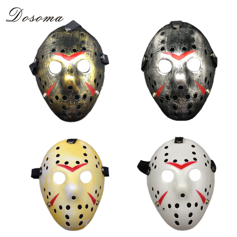 Cosplay Party Vintage Halloween Masks Jason Freddy Hockey Mask Delicated Thick PVC Costume Masquerade Masque With Elastic Band