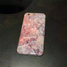 Crimson heart pink marble FOR iphone6s 6plus phone shell protective sleeve shell soft shell drop resistance