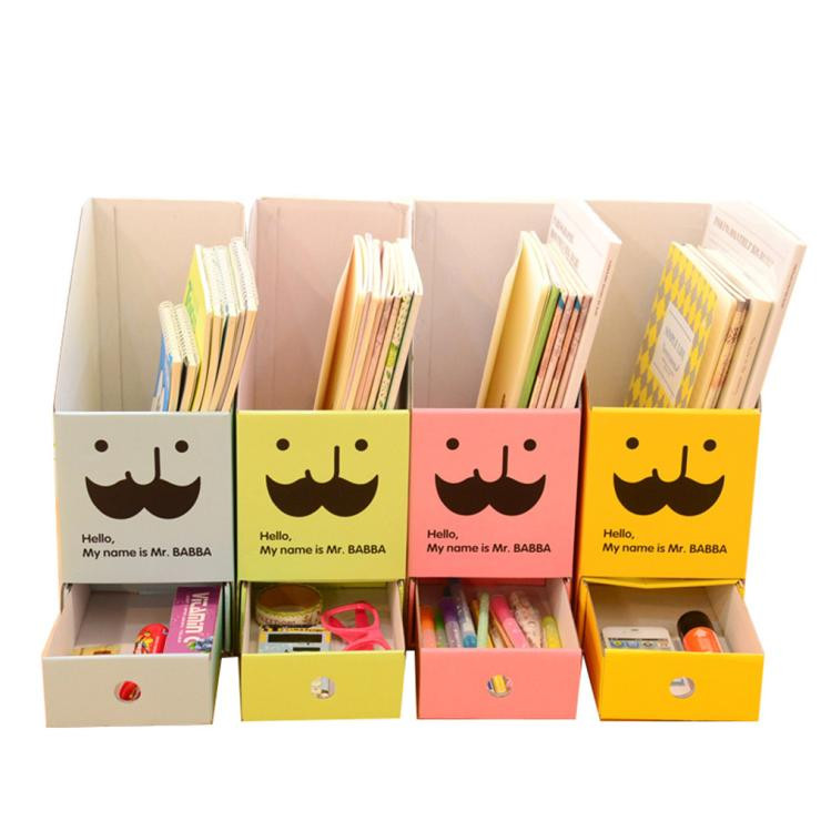Cute diy paper board storage box with drawer organizer - Cute desk organizer ...