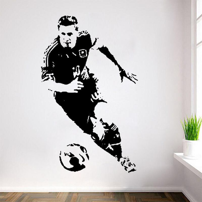 Online get cheap soccer wall decals for Pochoir mural xxl