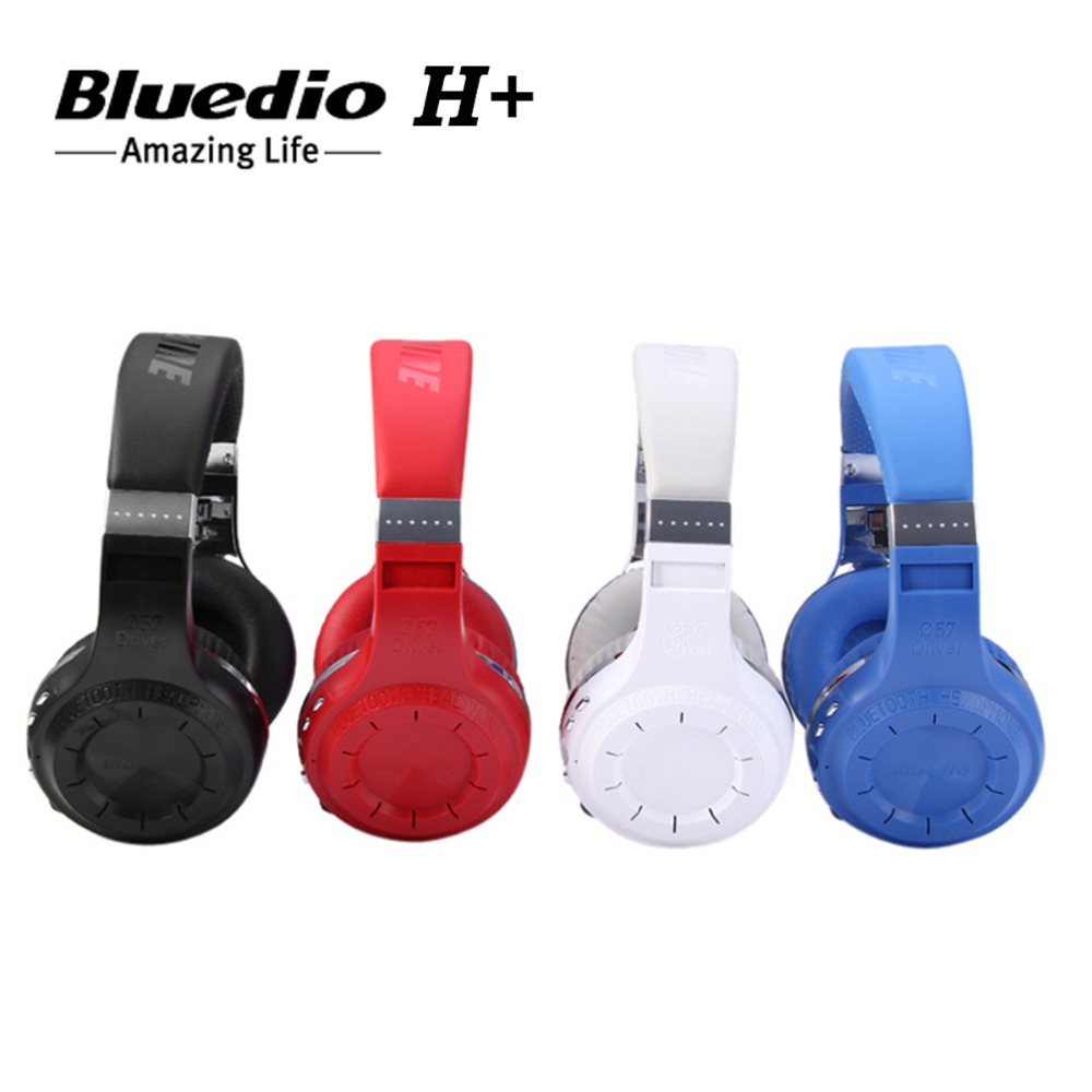 Bluedio H+ Turbo Bluetooth Wireless Headset Super Bass Music Headphone with Mic Line-in Socket TF Card Slot for mobile phone/PC<br><br>Aliexpress