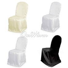 100Pcs/lot  Satin Chair Cover Wedding Banquet Party Dinner Decoration Annual Supplies Wholesales Black/White/Beige,DHL/EMS Free(China (Mainland))