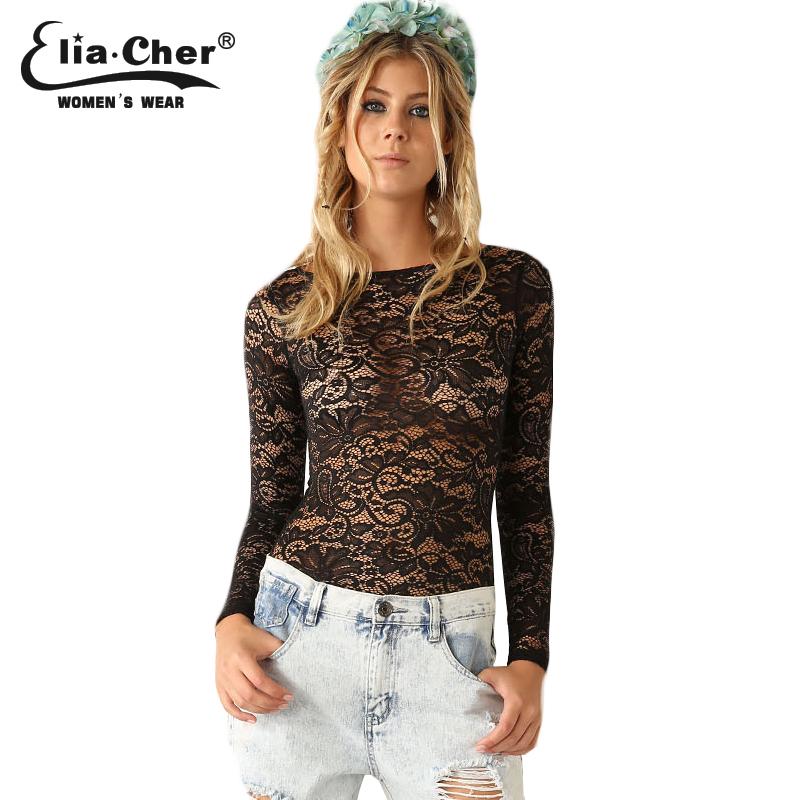 Mulheres blusa 2015 moda renda blusas mulheres Tops Eliacher da marca Plus Size Casual feminino vestuário Sexy mulheres camiseta Top(China (Mainland))