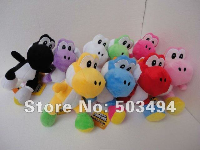 "Free shipping EMS 9 colors Super Mario Plush Yoshi Plush Doll Anime 8"" Cos Figure"
