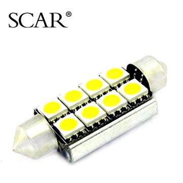 SCAR Festoon 42MM 5050 8SMD LED reading light lamp black front door light foot decoding(China (Mainland))