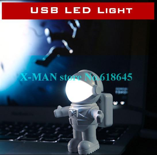 Creative Computer USB Cute Astronaut Light PC table bed Lamp LED Night Lights L239(China (Mainland))
