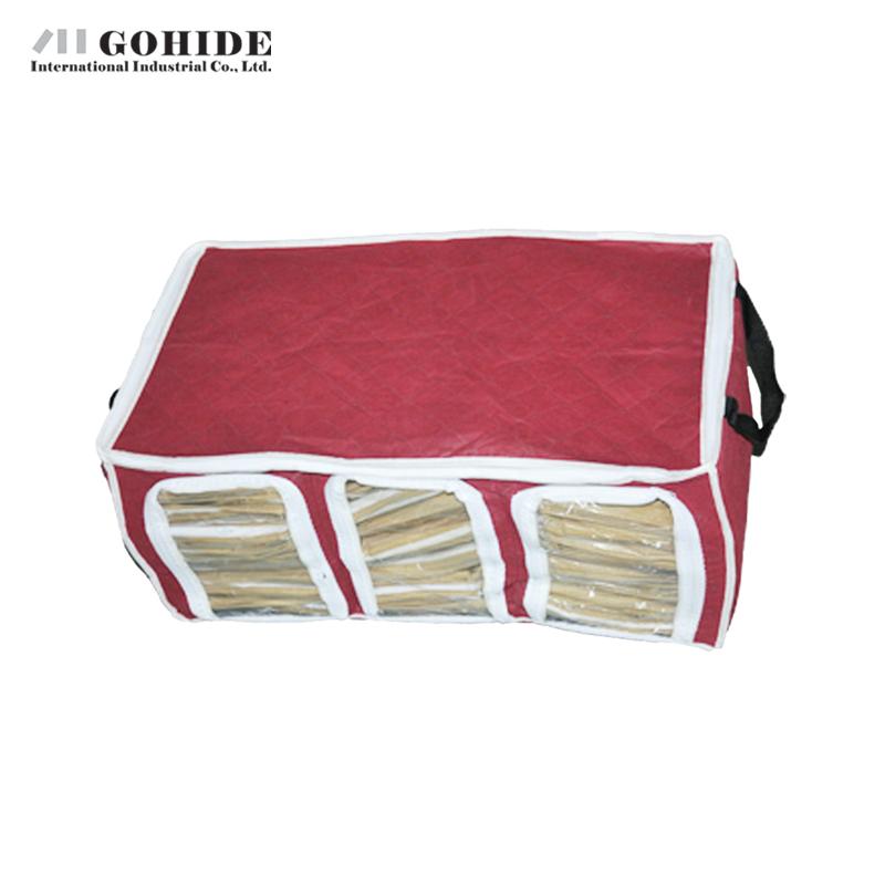 Gohide Home Storage Charcoal Visual Three Grid Clothing Storage Box Fold-Able Bamboo Charcoal Non Woven Cloth Storage Bag(China (Mainland))