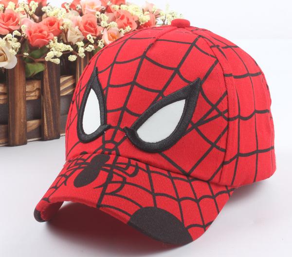 1-4 Years New Fashion Kids Baby Boys Girls Cartoon Spiderman Baseball Hip Hop Caps Snapback Adjustable Children's Sports Hats(China (Mainland))