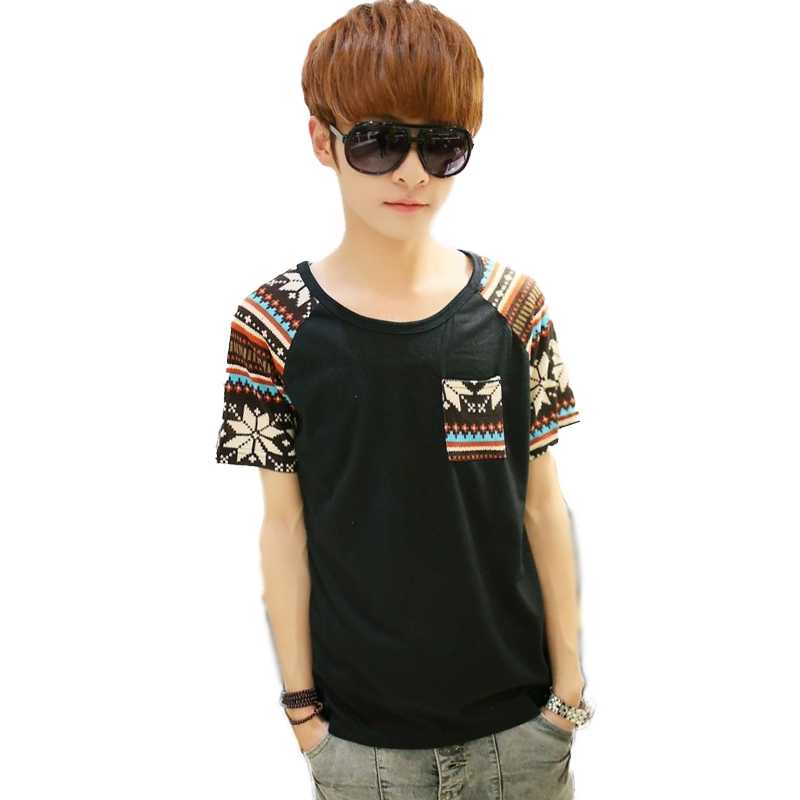 t Shirt Homme Ethnic Designer Vintage Men t Shirt Tie Dye Korean Men Slim Fit Tshirt Art Retro Casual Tops Tees t Shirt Homme(China (Mainland))
