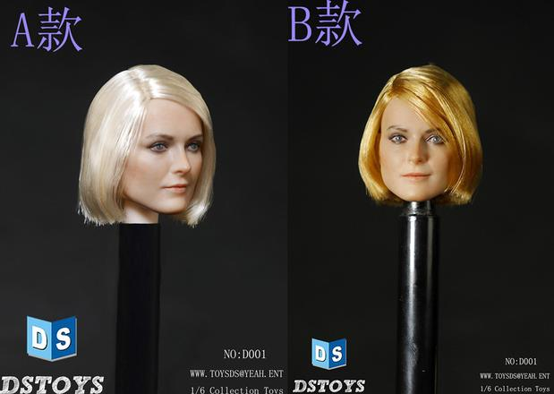 """DSTOYS D-OO1 1/6 Scale Female Head Sculpt Beautiful Head Carving Model For 12"""" Collectible Action Figure Toys Accessories(China (Mainland))"""