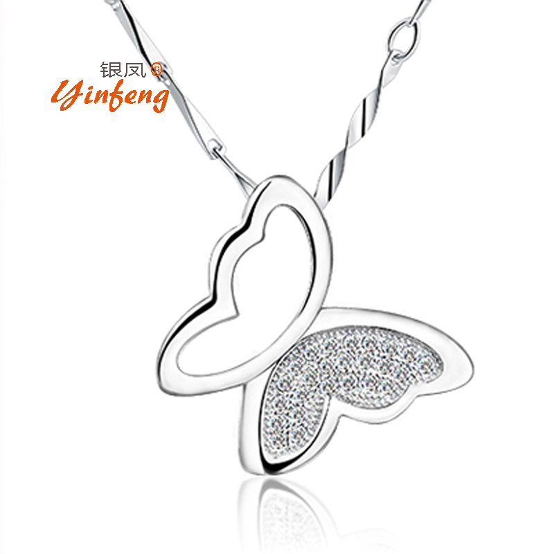 [Yinfeng] New Arrival Fashion chain necklace woth Hollow Butterfly Pendant Jewelry for women zircon pendants(China (Mainland))