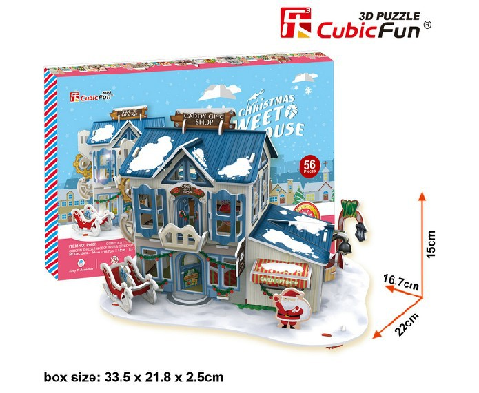 Arma Space Marine free Shipping Original Cubicfun 3d Puzzle Building Model Christmas House Children's Toys Birthday Gift Eyy-02(China (Mainland))