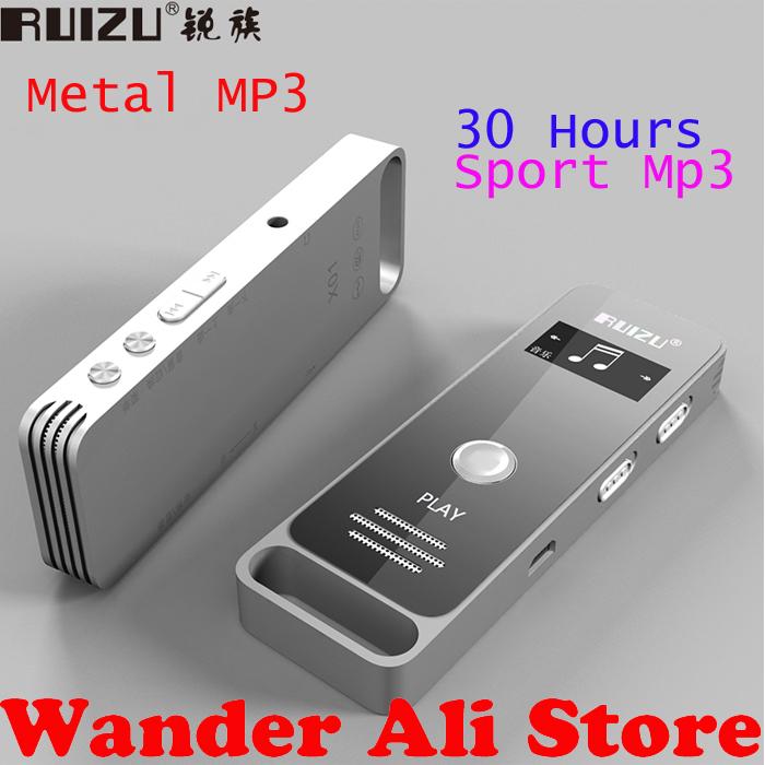 2015 New 4gb Sports MP3 Player Metal 30hours HIFI,Original RUIZU X01 mp3 player lossless music With Loudspeaker,FM,E-Book,Clock(China (Mainland))