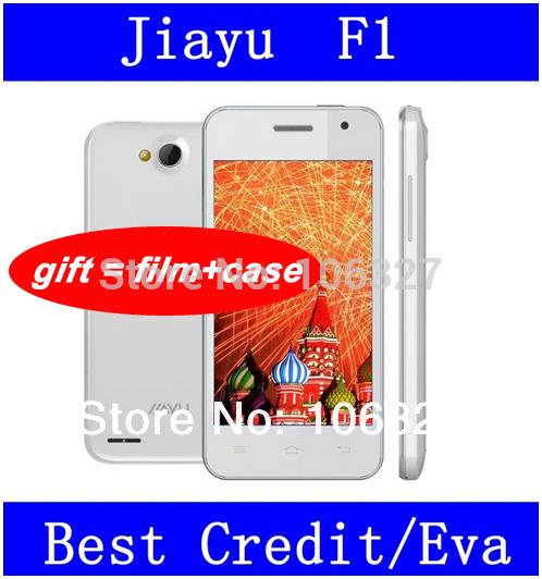 "WCDMA 3G In stock JIAYU F1 F1W android phone MTK6572 Cual Core Phone 512MB RAM 4GB ROM 5MP 4"" inch 2400mah metal frame /Eva"