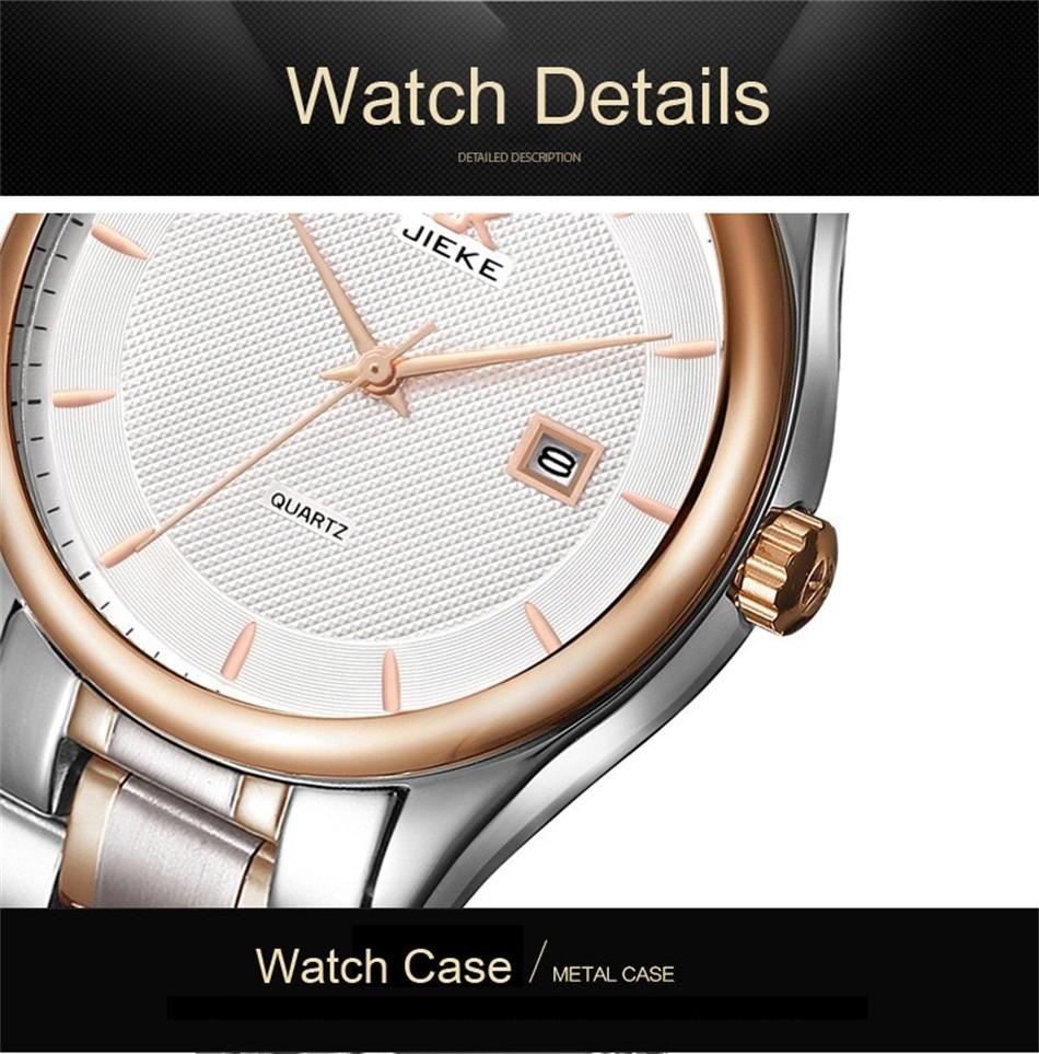 FOTINA Лучший Бренд JK Классические Часы Мужские Бизнес Платье Наручные Часы Черный Часы Дата Кварц Классические Часы Relogio Masculino
