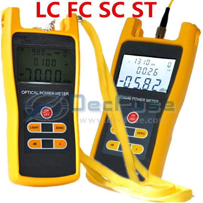 Broadcasting television FC SC ST LC Connector 3208C Portable Fiber Optical Light Power Meter 800~1700nm Tester de fibra Optica()