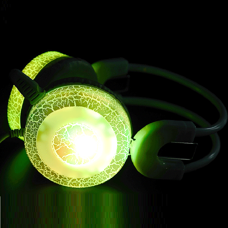Colorful Flash Light Gaming Headset Computer and PC Headphones