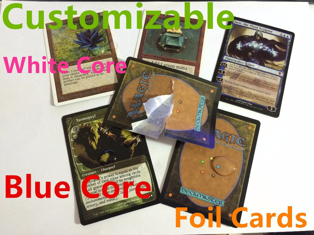 72pcs factory made proxy mtg cards,lion recommended magic the gathering,customized,m15 dual lands counterfeit blue core optional(China (Mainland))