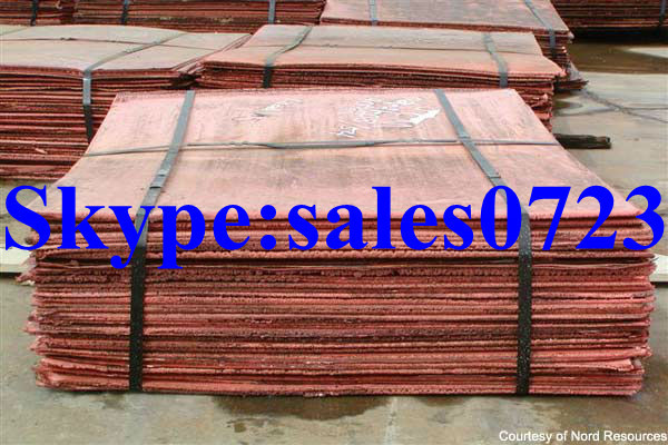 Copper Cathodes 99.99%, minimum 99.97% with the lowest price(China (Mainland))