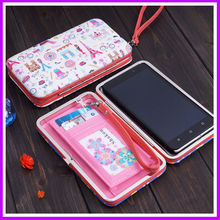Cartoon Lunch Box Wallet Women's Clutch Soft Leather Wallet Lady PU Long Card Purse Handbag