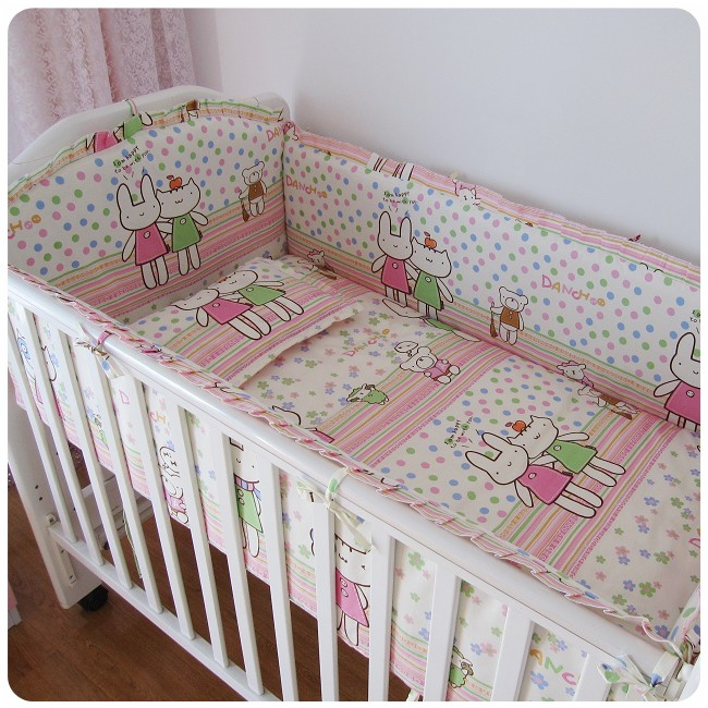 Акция! 6шт детская кроватка детская кроватка постельных принадлежностей бампер детская кровать-куны листа ,(бамперы+лист+наволочка)