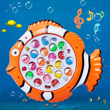 New Electric Rotating Magnetic Magnet Fishing Game Kid Children Educational Toy VBA97 T15(China (Mainland))