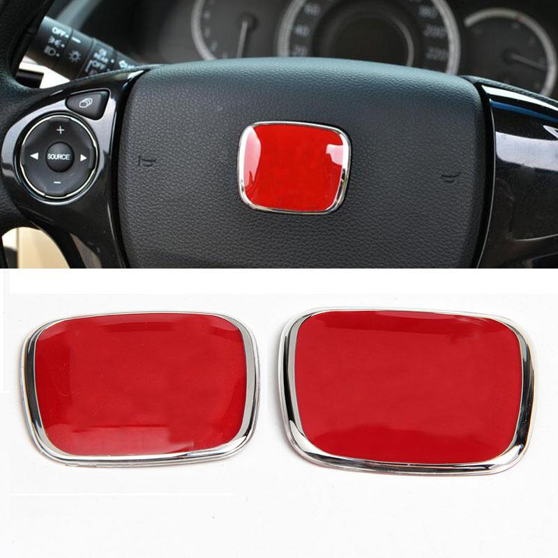 New JDM Red Black Blue Car Auto Steering Wheel badge Emblem Badge for honda civic fit jazz crz 53x43mm 50x40mm(China (Mainland))