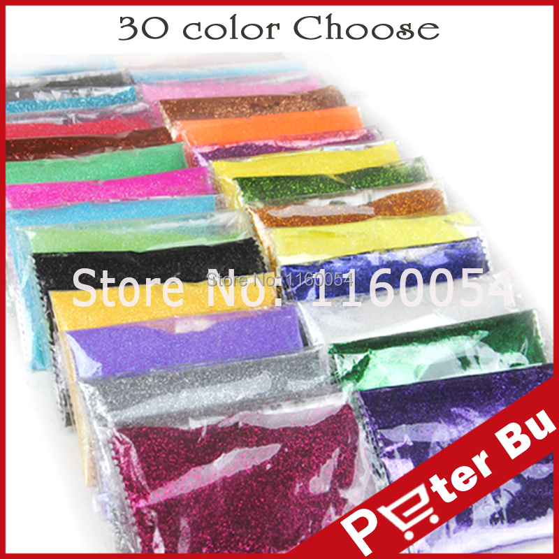 Free Shipping 80g/bag 30 different color choose Nail Glitter Dust shining powder for Nail Art Decoration for UV gel acrylic(China (Mainland))