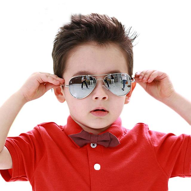 Fashin Детские Солнцезащитные Очки Стиль Марка Дизайн Дети Прохладно Девушки Парни Покрытие Зеркало Солнцезащитные Очки УФ-Защитой Детские Очки защита от солнца ОЧКИ ДЕТСКИЕ