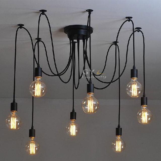 100 240 v nouveaut art d co moderne diy plafonniers lustre lustre bref fil suspendus lampes. Black Bedroom Furniture Sets. Home Design Ideas