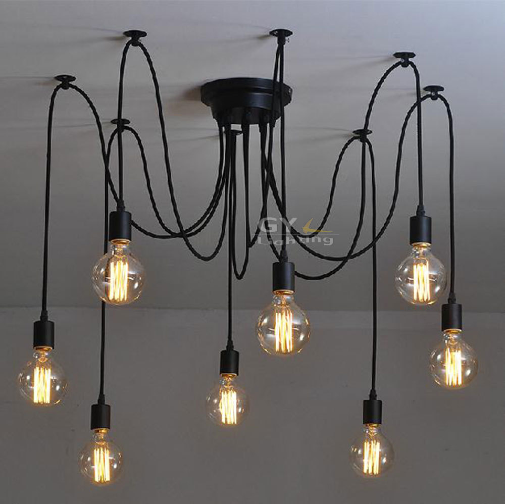 100 240v novelty art deco modern diy chandelier lustre brief pendant hanging lamps abajur - Chandelier ceiling lamp ...