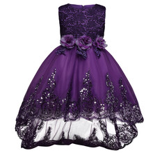 Gorgeous Flower Girl Little Bridesmaid Dress Kids Dress For Girls Ceremonies Party Wear Teenagers Children Prom Christening Gown(China (Mainland))