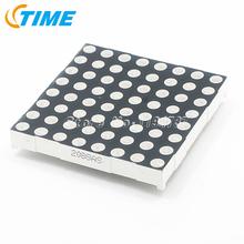 20PCS 5mm LED Dot Matrix Display 8x8  Red Common Cathode high quality free shipping(China (Mainland))