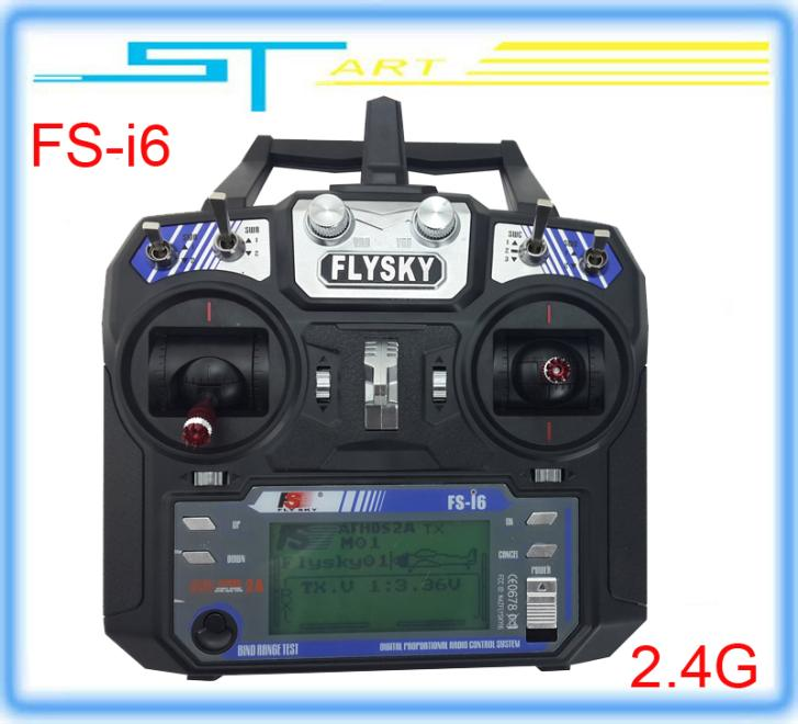 2014 New Version FS FlySky FS-i6 2.4G 6ch Transmitter and Receiver System LCD screen for RC helicopter VS FS-T6 Drop shipping<br><br>Aliexpress