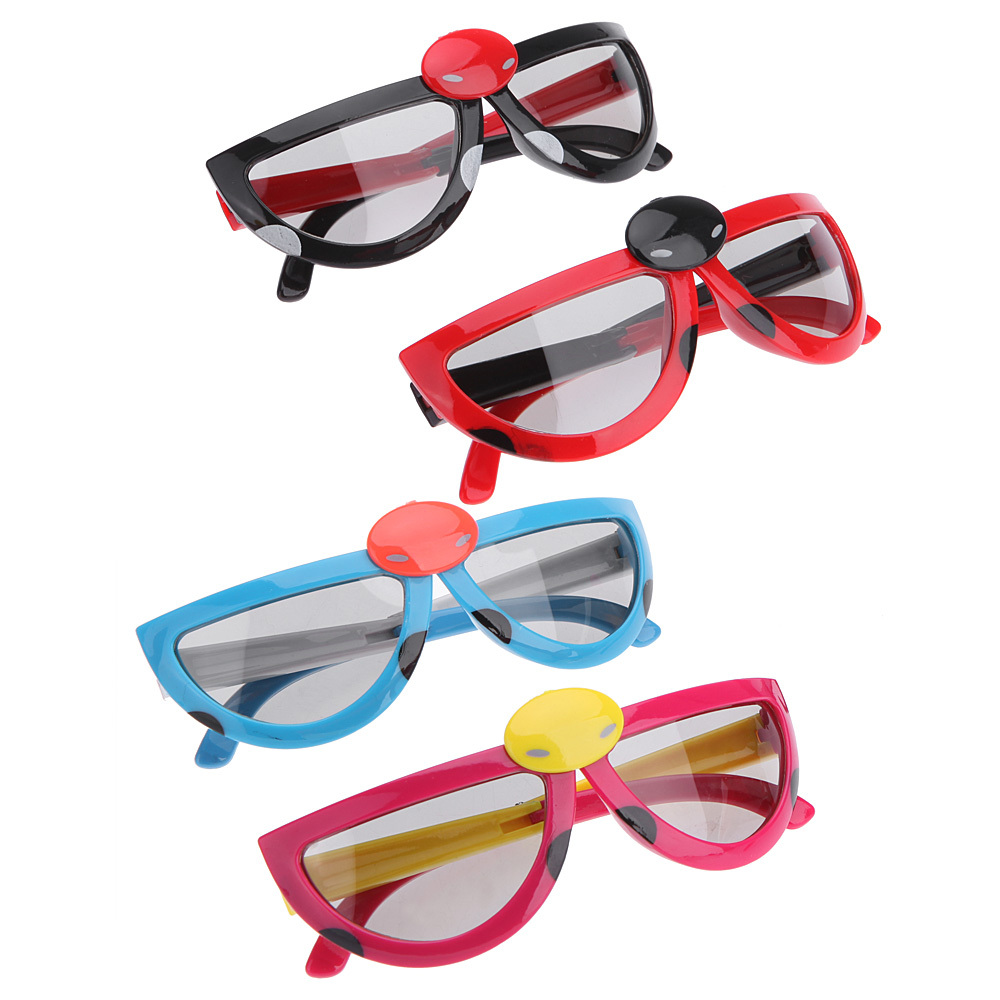Foldable Children Kids Passive Polarized 3D Glasses Beetle for 3D Cinema Passive Polarized 3D LCD Television for LG TVs(China (Mainland))